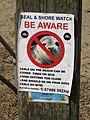2018-05-08 Trimingham beach, Seal warning sign.JPG