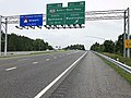 2019-06-05 16 16 32 View east along Interstate 195 (Metropolitan Boulevard) at Exit 2B (Maryland State Route 295 SOUTH-Baltimore-Washington Parkway, Washington) in Ehrmansville, Anne Arundel County, Maryland.jpg