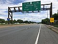 2019-06-18 15 16 58 View south along the local lanes of Interstate 270 (Washington National Pike) at Exit 4B (Montrose Road WEST) on the edge of Rockville and Potomac in Montgomery County, Maryland.jpg
