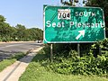 2020-08-26 16 40 46 View south along Maryland State Route 202 (Landover Road) at the exit for Maryland State Route 704 SOUTH (Seat Pleasant) in Landover, Prince George's County, Maryland.jpg