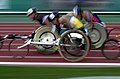 221000 - Athletics wheelchair racing 10km heat Australian athlete photographic effects - 3b - 2000 Sydney race photo.jpg