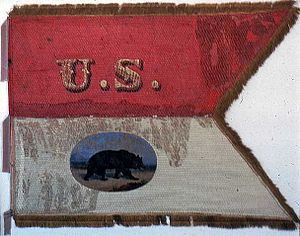 California in the American Civil War - Company Guidon, Company A ('California' 100), raised in Massachusetts