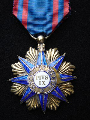 Order of Pope Pius IX - Image: 3° Conde de Paraty DSC02687