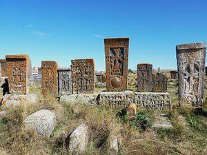 Noratus cemetery - An ensemble of khachkars.
