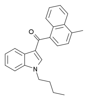 JWH-073 - Image: 4' methyl JWH 073 structure