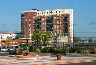 Union City, New Jersey - The name of the city's first high-rise condominium tower, the Thread, invokes its historical association with the embroidery industry.