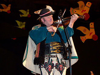 Polish folk dances - Goral of Podhale - member of Trebunie-Tutki folk band from Zakopane.