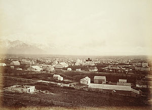 Salt Lake City - Salt Lake City c. 1880 by Carleton E. Watkins