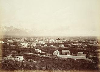 Salt Lake City - Salt Lake City c. 1880 by Carleton E. Watkins