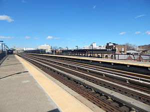 55th Street (BMT West End Line) - The 55th Street station in April 2015.