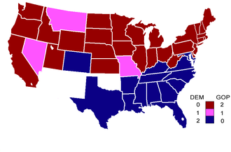 59th United States Congress - Senate composition by party at the start of the 59th Congress