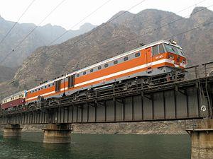 Fengtai–Shacheng Railway - A bridge across the Yongding River.