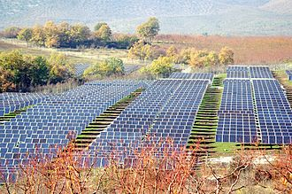 Solar tracker - 8-megawatt PV plant using horizontal single axis tracker, Greece
