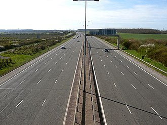 A1(M) motorway - A1(M) southbound at Sawtry.