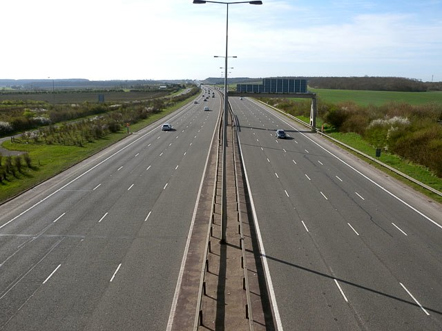 A1 (M) looking South - geograph.org.uk - 1240153