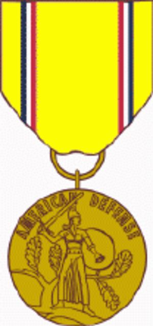 American Defense Service Medal - Medal