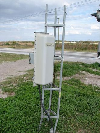 Automatic equipment identification - RFID antenna used by trackside AEI readers