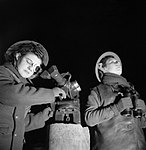ATS spotters at a 3.7-inch anti-aircraft gun site at Dunfermline in Scotland, 6 January 1943. H26574.jpg