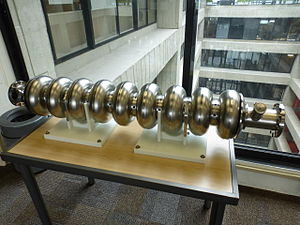 Niobium - A 1.3 GHz SRF made from niobium is on display at Fermilab