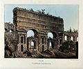 A Claudian aqueduct. Coloured aquatint with etching by M. Du Wellcome V0020183.jpg
