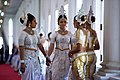 A Group of Women in Traditional Kandyan Dress Wait as Secretary Kerry Meets With Sri Lankan Foreign Minister Samaraweera in Colombo (17154185509).jpg