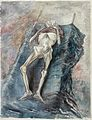 A Living Skeleton at Belsen Concentration Camp, 1945 (Art.IWM ART LD 5587).jpg