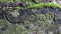 A WWII pedestrian army access inscription, Lainshaw Estate park wall. Stewarton, East Ayrshire.jpg
