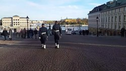 קובץ:A guard mounting ceremony at the royal palace in Stockholm.webm