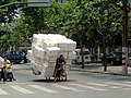 A heavy tricyle near Da-An Garden (Yu Yao Rd and Wu Ning Rd.) - panoramio.jpg