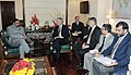 A high level delegation led by the Senator, United States (R-Kentucky), Mr. Mitch McConnell meeting the Union Minister for Commerce and Industry, Shri Anand Sharma, in New Delhi on April 20, 2011.jpg