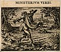A man scatters seeds; representing the Biblical parable of the sower Wellcome V0007642EBR.jpg
