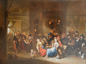 Merry company - Abraham van den Hecken, A Merry Company in a Tavern, 1640s