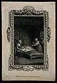 A sick man in bed with his hand held by a seated woman, anot Wellcome V0015118EL.jpg