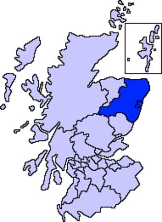 Aberdeen North (UK Parliament constituency) - Image: Aberdeenshire, Aberdeen City