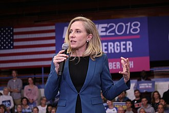 Abigail Spanberger - Spanberger speaking at a campaign rally on election day eve in 2018