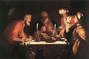 Abraham Bloemaert - The Emmaus Disciples - WGA...