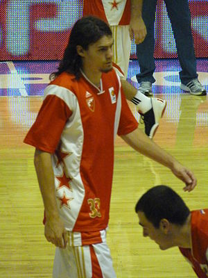 Adam Morrison - Morrison with Red Star Belgrade in October 2011.