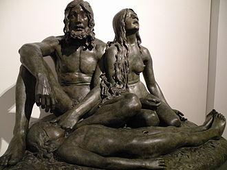 Carl Johan Bonnesen - Adam and Eve at the body of Abel, 1900