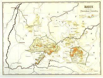 Principality of Fürstenberg - Fürstenberg territories in 1806