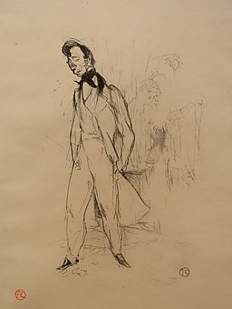 Adolphe, of The Sad Young Man, by Henri de Toulouse-Lautrec, 1894, crayon lithograph on wove paper, only state, Wittrock 55 - Montreal Museum of Fine Arts - Montreal, Canada - DSC08846