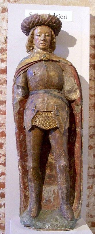 Adrian and Natalia of Nicomedia - French statue of Saint Adrian