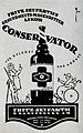 Advert; Conservator with a hunter and a man in a wheelchair Wellcome V0047575.jpg