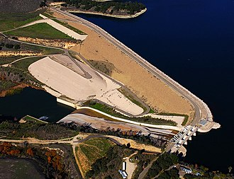 Lake Cachuma - Image: Aerial Bradbury Dam