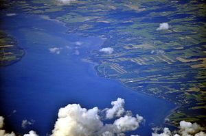 Aerial - Union Springs, NY on Cayuga Lake 01 - white balanced (9641417650).jpg