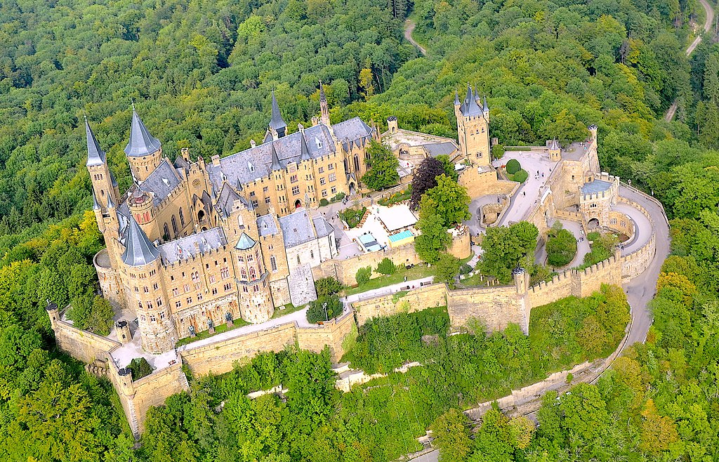 Aerial view of Hohenzollern Castle