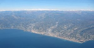 Bordighera - Bordighera and its neighbor city Ventimiglia