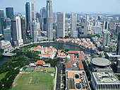 Aerial view of the Civic District, Singapore River and Central Business District, Singapore - 20080518.jpg