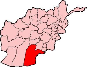 2009 Kandahar bombing - Kandahar province within Afghanistan