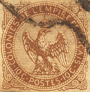 Postage stamps of the French colonies - French Colonies stamp 1859