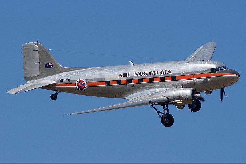 File:Air Nostalgia Douglas DC-3 Melton Vabre-1.jpg